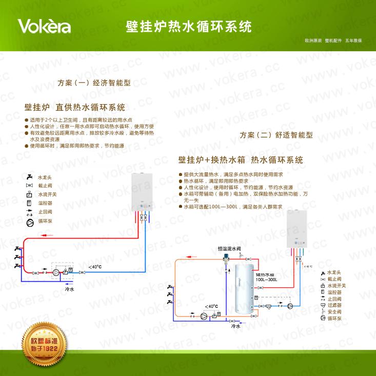 壁挂炉热水循环系统